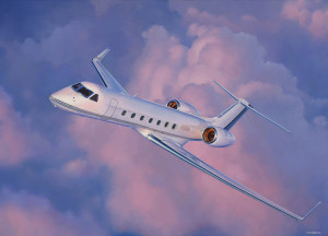 "William Dodge ""Gulfstream G550"" 24"" x 36"" Oil"