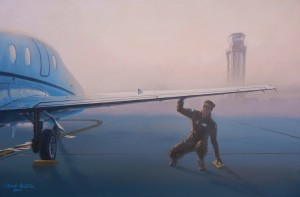 "Mark Pestana ""Laura's Preflight"" 24"" x 36"" Acrylic"