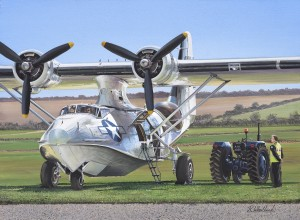 "Richard Wheatland ""Duxford Cat"" 12"" x 16"" Mixed"