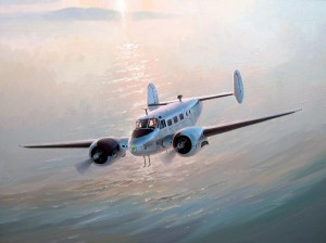 "Keith Ferris ""Beech-18"" 24"" x 32"" Oil"